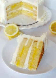 Triple Lemon Cake  Cheat with cake mix, pie filling, and frosting?
