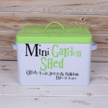 Bright Side Mini Garden Shed Novelty Storage Tin Side Garden, Great Gifts For Men, Practical Gifts, Fathers Day, Tin, Birthday Gifts, Best Gifts, Shed, Bright