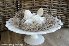 How to Make the World's Easiest Bird's Nest (and Vintage Eggs)