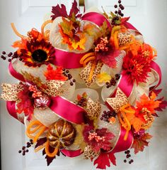 https://www.etsy.com/treasury/MTU2NzAxNjd8MjcyNDc2ODgwMg/never-too-soon-for-autumn?index=14=treasury_search_uid=  Fall Deco Mesh Wreath  Autumn Wreath  Fall by SparkleWithStyle, $95.00
