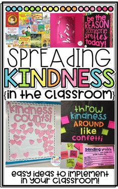 Spreading Kindness in the Classroom! Easy ways to spread smiles! FREEBIES!