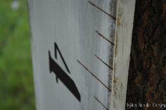 Black & White Handmade Wooden Growth Chart via Ashley Nicolle Design on etsy