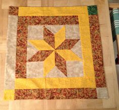 Another  Eight-Point Star Quilt Block using the directions I found on YouTube by Edyta Sitar.  Made of scrap fabrics.