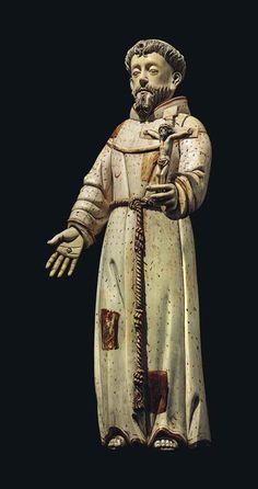 ivory_figure_of_saint_francis_of_assisi_hispano-phillipine Francis Of Assisi, St Francis, Saint Anthony Of Padua, St Anthony's, St Joan, San Francisco, Christian Art, Religious Art, 17th Century