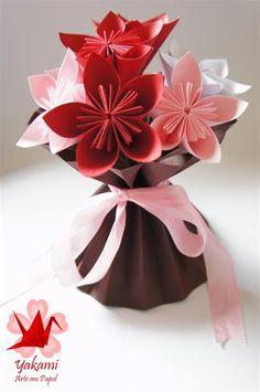arranjos florais com origami - Pesquisa Google