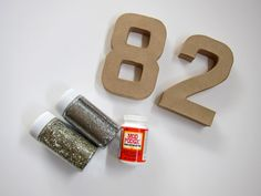 Glitter Table Numbers Tutorial