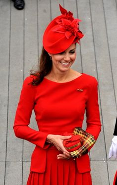Catherine, Duchess of Cambridge. Love this whole outfit, the hat completely finishes it.