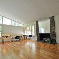 Ugly couch, mirror on fireplace! 1960's Mid-Century Modern Ranch | Lakefront | Grove Park |