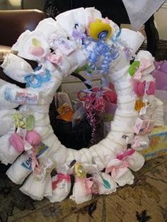 Diaper wreath.