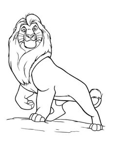 Evil Scar The Lion King Coloring Page Coloring 4 Kids Disney