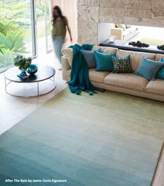 Rugs, Floor Rugs, Designer Rugs, Modern Rugs - The Rug collection. Cool way to incorporate various colors subtly; without a bold pattern.