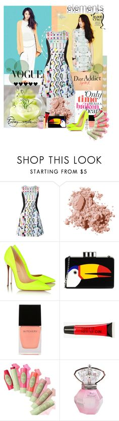 krystle by bouchra-re on Polyvore featuring mode, Peter Pilotto, Christian Louboutin, Les Petits Joueurs, Bobbi Brown Cosmetics, Stila, Torrid and Witchery