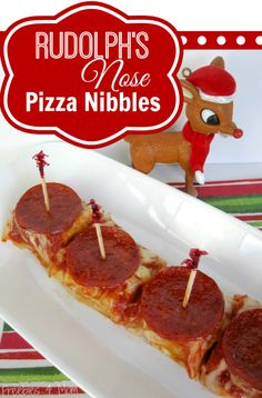 Rudolph's Nose Pizza Nibblers - it's all about how you cut and serve pepperoni pizza! #PlanAhead #shop #cbias http://freebies4mom.com/santashat/