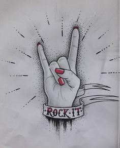 Rock'n'Roll hand girly metal rock it tattoo flavia fricker