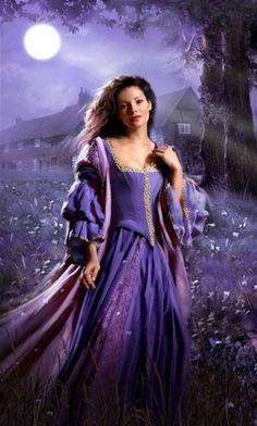 lady in purple novel cover art setting Mode Purple, Purple Love, All Things Purple, Shades Of Purple, Purple Dress, Romance Novel Covers, Romance Art, Romance Novels, Photo Glamour