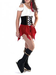 Jalie 2685 - Pirate Skating Dress and Boot Covers