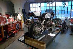 129 best motorcycle garages and workshops images garage workshop rh pinterest com