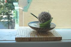 alium / hosta leaf Ikebana, Leaves, Flowers, Plants, Plant, Royal Icing Flowers, Flower, Florals, Flower Arrangements