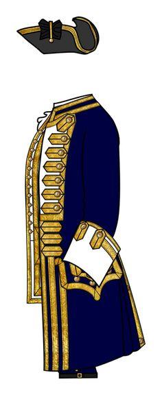 British 18th-century naval frock coat