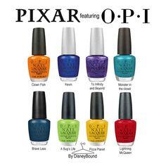 Pixar OPI collection! Oh my gosh, Disney Pixar nail polish! I need them all!