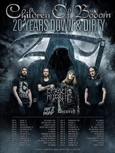 1 December - CORONA THEATRE -Children of Bodom -Carach Angren -Lost Society -Uncured