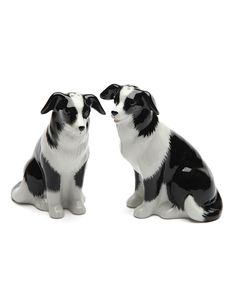 Another great find on #zulily! Border Collie Salt & Pepper Shakers by Cosmos #zulilyfinds
