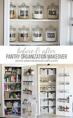 Small Pantry Organization Makeover Before & After #worldmarkettribe #ad