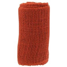 "6"" Burnt Orange Burlap Spool 
