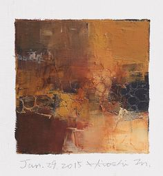 Jan. 29, 2015 - Original Abstract Oil Painting - 9x9 painting (9 x 9 cm - app. 4 x 4 inch) with 8 x 10 inch mat