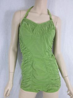 40s green bathing suit