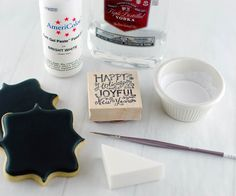 Stamped Chalkboard Art Cookies | Semi Sweet Designs