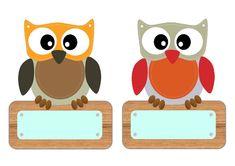 Preschool Names, Owl Theme Classroom, Shape Names, Name Labels, Kindergarten Fun, Autumn Art, Cute Animal Pictures, Cute Animals, Cross Stitch