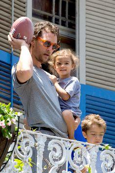 Matthew McConaughey & Family In The Big Easy