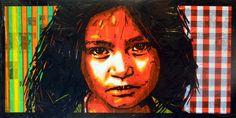 Nikolay Vasilyev. Drawings and Tape art / Графика и скотч арт. Николай Васильев: Girl/2014/ #tapeart