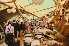 Chris and Hannah's 'Relaxed and Fun Tipi Wedding, With Lots of Handmade and Vintage Elements' By Mark Tierney