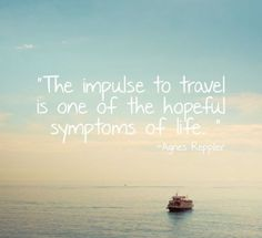 Impulse to #travel...