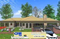 House Plan No W2280 Small House Plans, House Floor Plans, Fancy Houses, Site Plans, Garage Plans, Home Collections, Home Renovation, Beautiful Homes, Villa