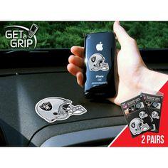 Oakland Raiders NFL Get a Grip Cell Phone Grip Accessory (2 Piece Set)