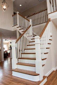 updated stair in Arlington renovation  DuBro Architects + Builders