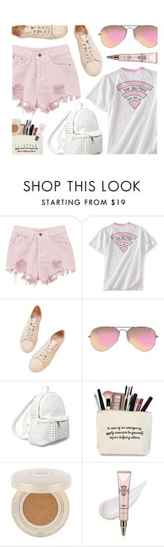 """Soft Pink"" by monmondefou ❤ liked on Polyvore featuring Ray-Ban, 7 Chi, Etude House, Beauty and yesstyle"