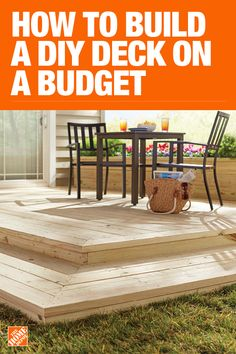 How to Build a Simple DIY Deck on a Budget The Home Depot has everything you need for your home improvement projects. Click through to find all your deck and outdoor living needs. Backyard Projects, Outdoor Projects, Backyard Patio, Backyard Landscaping, Diy Projects, Simple Projects, Woodworking Projects, Diy Deck, Decks And Porches