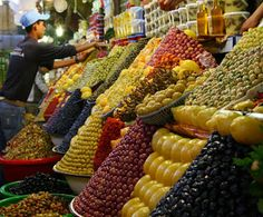♥ Sweet Tasty Colors of #Moroccan #Olives