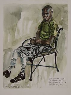 NAME: Lance Corporal Adrian Jones ARTIST: Chief warrant Officer 2 Michael D. Fay, USMCR MEDIUM: Pen and Ink and Watercolor on Paper THEME: The Price
