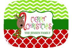 Personalized Platter Melamine Merry Christmas by rosieposiedesigns, $24.50