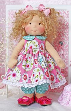 Little Love Birds Dress and Pantaloons for 18 inch dolls