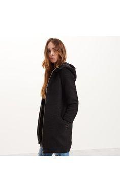 Kabát s kapucí, BUNDY, KABÁTY, Černý, RESERVED