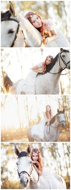 Meet the beautiful Bree and her handsome fairy tail horse! You may have seen her face in my portfolio a few times. I mean...can you blame me?? She's stunning! I've known her since we were just a couple awkward kids in elementary school. Ok, we're still are...