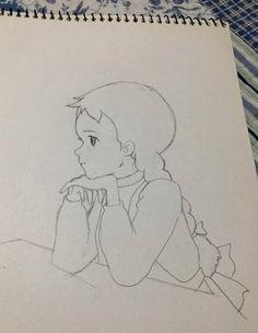 0번째 이미지 Girly Drawings, Pencil Art Drawings, Easy Drawings, Fashion Illustration Sketches, Art Sketches, Sad Girl Drawing, Flower Desktop Wallpaper, Studio Ghibli Art, Fashion Painting