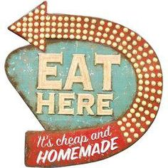 Eat Here Wall Decor