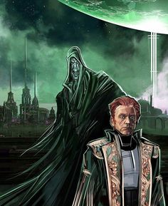 Darth Plagueis and Sidious as his apprentice.